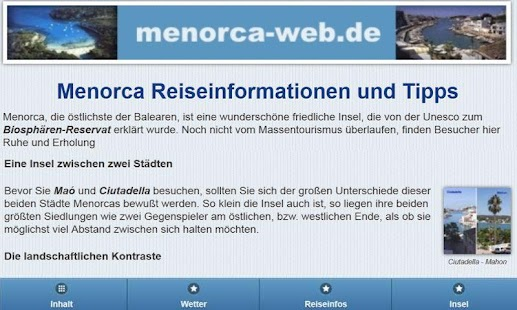 Menorca-web.de- screenshot thumbnail