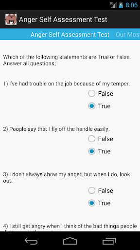 Anger Self Assessment Test