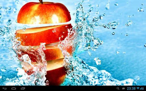 Fruits In Water Live Wallpaper