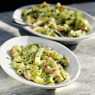 Pasta Salad With Pesto & Prawns