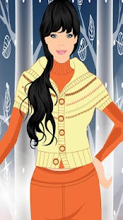 Chic Winter Dresses Girl Game - screenshot thumbnail