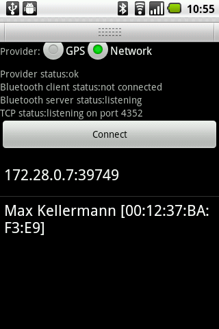 BlueNMEA- screenshot