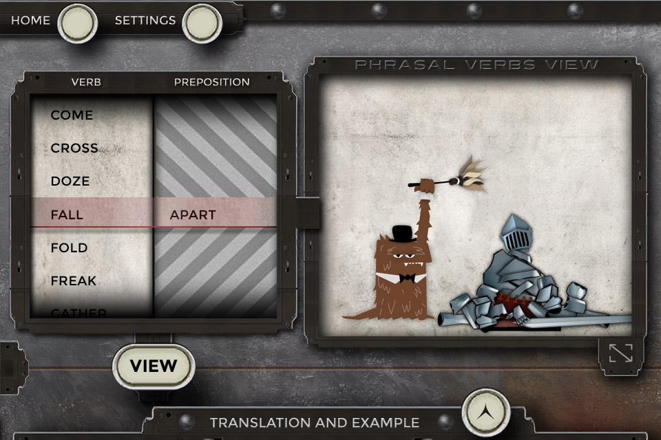 Phrasalstein Phone - screenshot