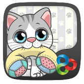 Pillow Cat GO Launcher Theme