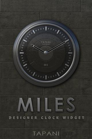 MILES Designer Clock Widget