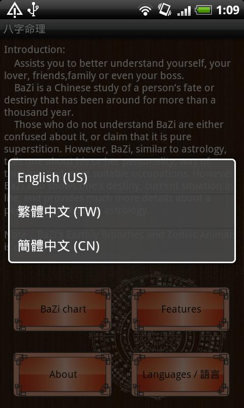 Chinese BaZi Astrology - screenshot
