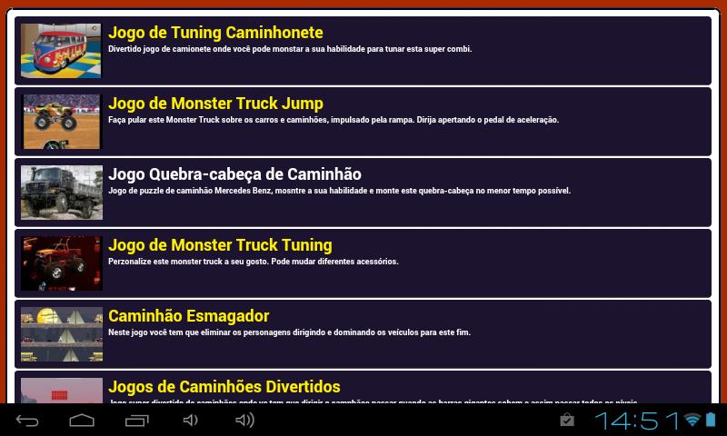 Jogos de caminhões - screenshot