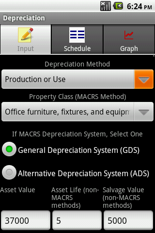 Depreciation Calculator Pro- screenshot