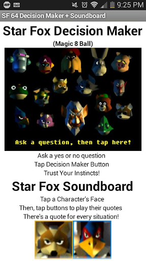Star Fox 64 Decision Maker