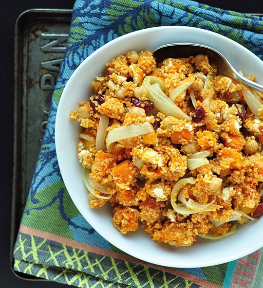 Pomegranate Chicken With Almond Couscous Recipe: Couscous Salad With Butternut Squash And Cranberries