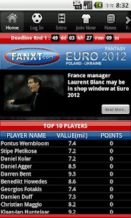 Fantasy Euro 2012 - screenshot thumbnail