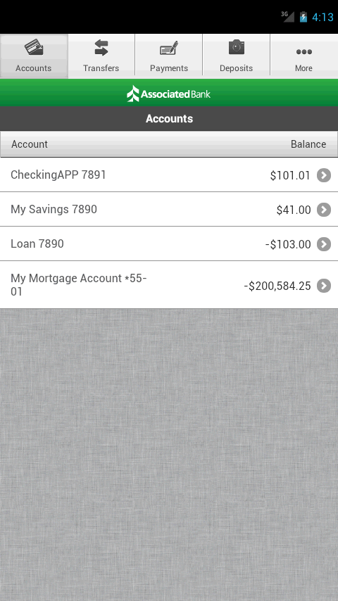 Associated Mobile Banking - screenshot