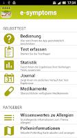 Screenshot of e-symptoms