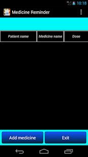 medicine - pills time reminder screenshot