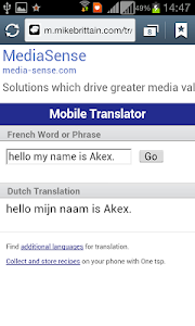 Mobile dictionnaire screenshot 2