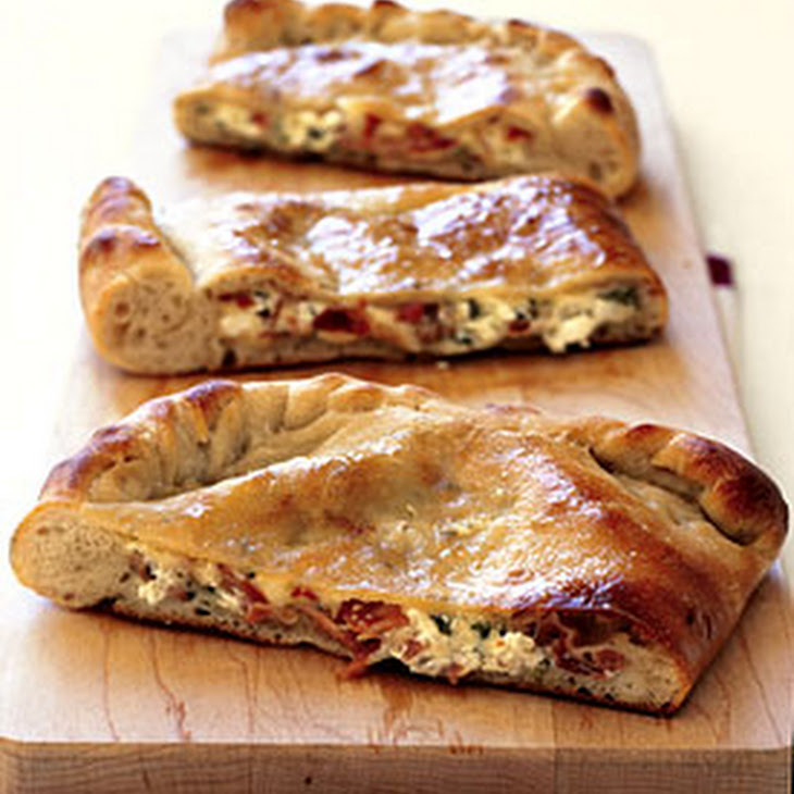 Double-Cheese and Prosciutto Calzone Recipe