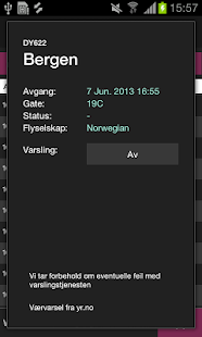 AvinorFlights - screenshot thumbnail