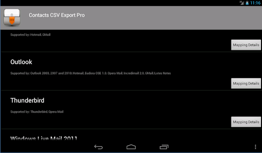 Contacts CSV Export Pro - screenshot thumbnail