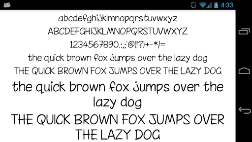 Fonts for FlipFont 50 Written  screenshots 2
