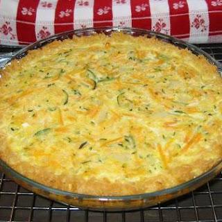 Zucchini Quiche in a Short Grain Brown Rice Crust