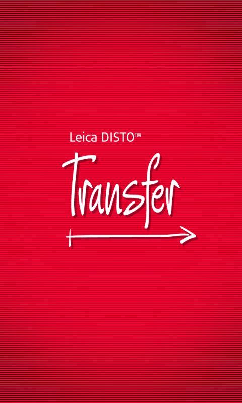 Leica DISTO™ transfer- screenshot