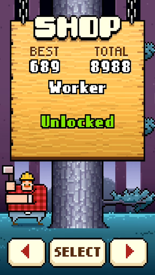 Timberman- screenshot