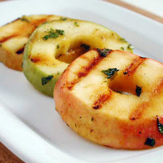 Marinated Grilled Apples with Mint