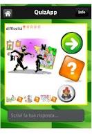 Screenshot of QuizApp italian comics rebus