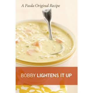 Bobby's Lighter Chef Jack's Corn Chowder.