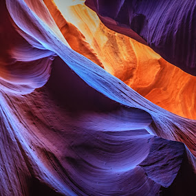 Antelope Canyon by Tim Monk - Landscapes Caves & Formations