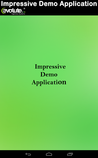 Evolute Impress Demo App