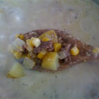 Corn Chowder with Beef