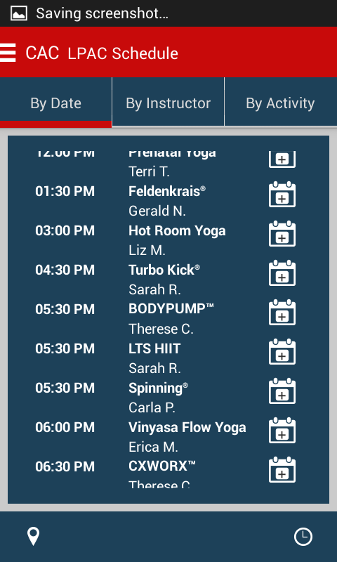 Chicago Athletic Clubs- screenshot