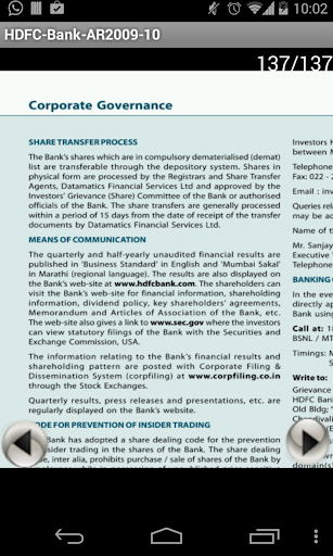 HDFCBANK ANNUAL REPORT 2009-10