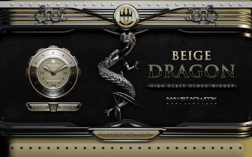 免費下載個人化APP|ドラゴン時計ウィジェット ベージュ app開箱文|APP開箱王