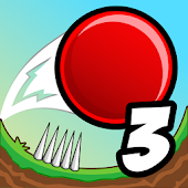 Red Bouncing Ball Spikes 3
