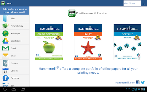 Print Hammermill Screenshot