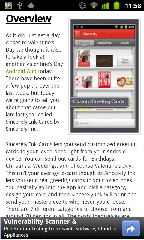 Android News Reader - screenshot