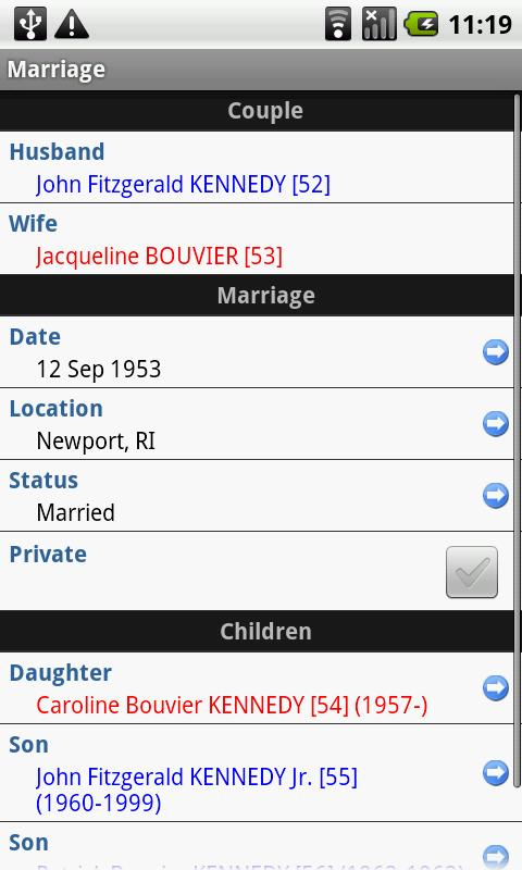 GedFamilies - screenshot