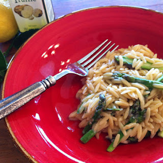 Truffled Orzo with Asparagus & Formaggio.