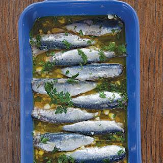 Marinated Sardines (Sardeles Ladolemono).