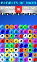 Screenshot of Bubbles of Math
