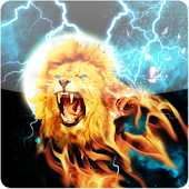 Fire Light Lion Live Wallpaper