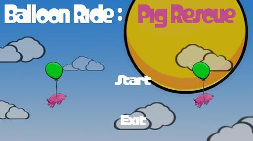 Balloon Ride Pig Rescue