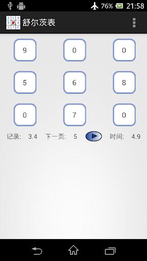 【免費娛樂App】舒尔茨表-APP點子