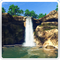 Waterfall in the jungle icon