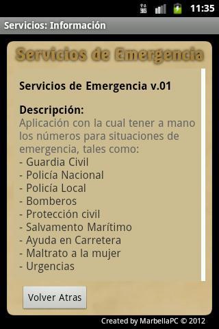 EmerServ 0.1- screenshot
