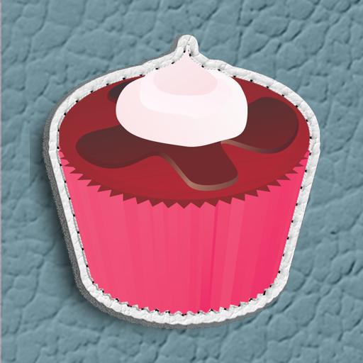 粉红色的蛋糕触摸者点 LOGO-APP點子