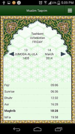 Muslim Taqvimi (Prayer times)  screenshots 1