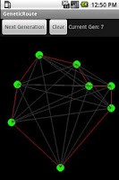 Screenshot of Routing with Genetic Algorithm